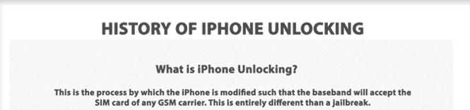 iPhone Unlocking History