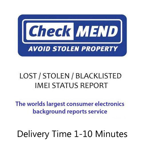 CheckMend Lost / Stolen / Blacklisted / Blocked / Barred IMEI Check