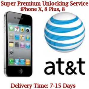 AT&T iPhone X, 8 Plus, 8 unlock service