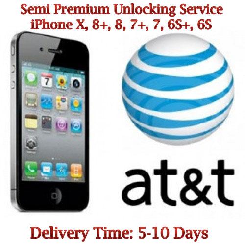 iPhone X, 8, 8 Plus, 7 Plus, 7 AT&T Unlock Service
